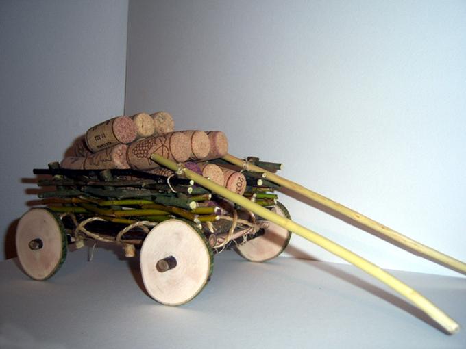 Поделка телега